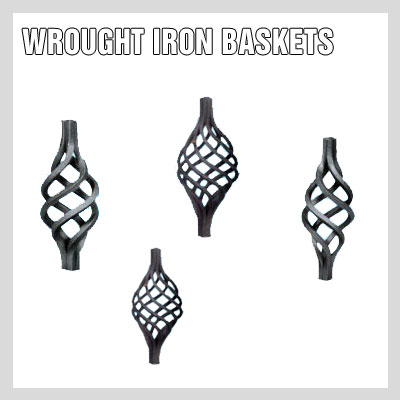 WROUGHT IRON BASKETS